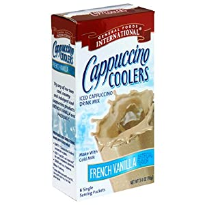 General Foods International Cappucino Coolers French Vanilla, 6-Single Serving Sticks (Pack of 8)