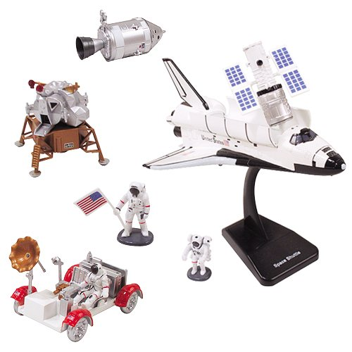 InAir E-Z Build Space 2pc Set - NASA Space Shuttle and Lunar Lander with Moon Rover