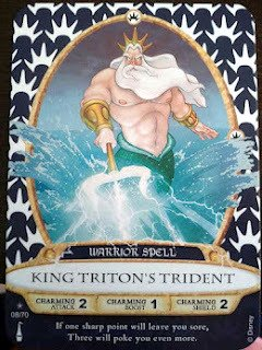 Sorcerers Mask of the Magic Kingdom Game, Walt Disney World - Card #08 King Triton's Trident