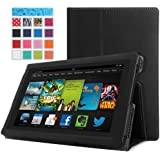 MoKo Amazon All-New Kindle Fire HD 7 Case - Slim Folding Case for All-New Fire HD 7.0 Inch 2013 Gen Tablet, Black (With Smart Cover Auto Wake / Sleep)
