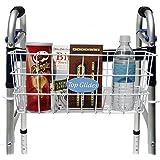 BUNDLE: Premium Clip-on Walker Basket with FREE Carry-All Hooks ($8 value)
