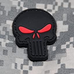 Punisher Morale Patch Red Eyes