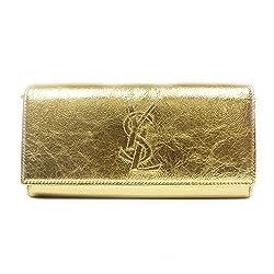 YSL Belle de Jour Gold Metallic Wallet