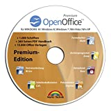 Software - Open Office Premium Edition CD DVD 100% kompatibel zu Microsoft� Word� und Excel� -f�r Windows 10-8-7-Vista-XP
