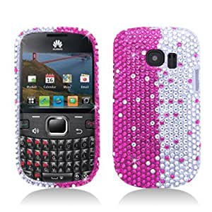 Aimo HWM636PCLDI685 Dazzling Diamond Bling Case for Huawei Pinnacle 2 M636 - Retail Packaging - Pink Divide