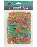 Update International PSP-30JP 500-Pack Plastic Sword Toothpick, 3-Inch