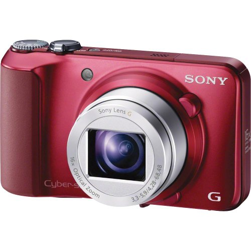 Sony Cyber-shot DSC-H90 16.1 MP Digital Camera with 16x Optical Zoom and 3.0-inch LCD (Red) (2012 Model)