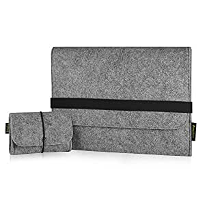 EasyAcc® Macbook Pro Retina 13.3 zoll Filz Sleeve Hülle Ultrabook Laptop Tasche für Apple Macbook Pro Retina und vieles mehr - Grau (Größe: 330 mm x 230 mm x 6 mm)