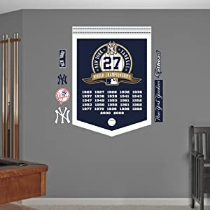 MLB New York Yankees World Series Champions Banner Wall Graphics by Fathead