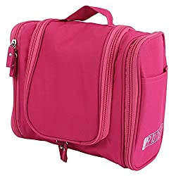 UberLyfe Travel Toiletry Bag cum Cosmetic Organizer - Hot Pink (TB-001154-TOIYBG-PK)