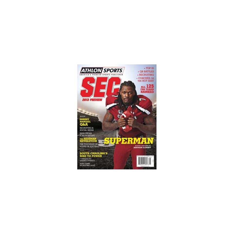 Athlon Sports 2013 College Football Southeastern (SEC) Preview Magazine  South Carolina Gamecocks Cover