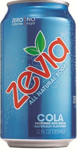 Zevia Natural Diet Soda, Cola, 12-Ounce Cans (Pack of 24)