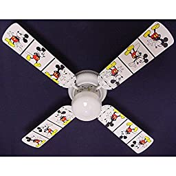 Ceiling Fan Designers Ceiling Fan, Disney Mickey Mouse #2, 42\