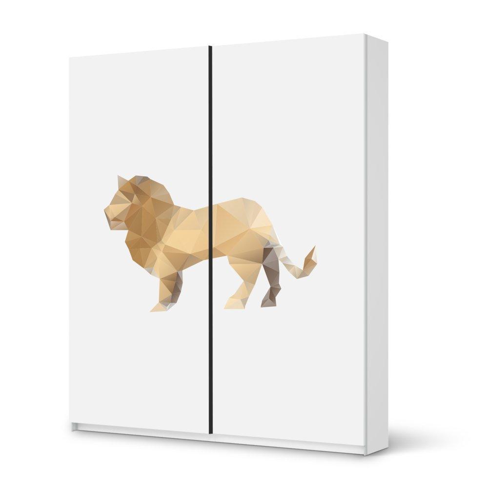 Folie IKEA Pax Schrank 236 cm Höhe – Schiebetür / Design Aufkleber Origami Lion / Dekorationselement günstig bestellen