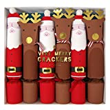 Meri Meri Set of 6 Santa & Reindeer Christmas Crackers