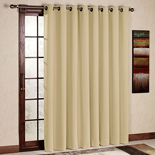Rhf wide thermal blackout patio door curtain panel for Wide sliding patio doors