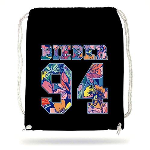 bieber 94 flowers gymsack black certified freak. Black Bedroom Furniture Sets. Home Design Ideas
