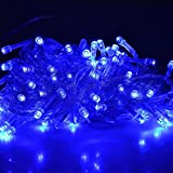 FIDOOVIVIA 30M/50M 300/400 LEDs Waterproof String Fairy Lights For Indoor&Outdoor Wedding Christmas Party Room With UK Plug 8 Operation Modes-Blue