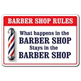 What Happens In The Barber Shop [3 Pack] of Vinyl Decal Stickers | 3.3