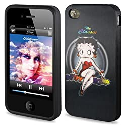 3D Polymer Case IPHONE 4/4S Betty Boop the Classic - black 3DPSC-IPHONE4-B21