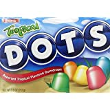 Tropical Dots Candy 7.5 Ounce Theater Size Packs 12 Boxes