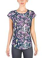 Elle Sport Camiseta Manga Corta (Negro / Multicolor)
