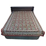 """60X90"""" Bagru Print Block Print Double Bed Spread- Double Bed Cover- Double Bed Sheet - Online Shopping For Home... - B00G8V8NR2"""
