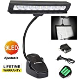 Donner DL-1 Music Stand Light Table Lamp for Reading Adjustable Clamp Two Levels of brightness