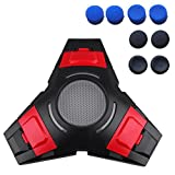 Foneso PS4 Controller charger 4 Charger Triangle Dock Wireless Charging Station for Playstation 4 Controller with 4 Pair Controller Thumb Grip Covers