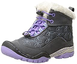 Jambu Magnolia Mid Waterproof Boot (Little Kid/Big Kid), Grey/Lilac, 2 M US Little Kid