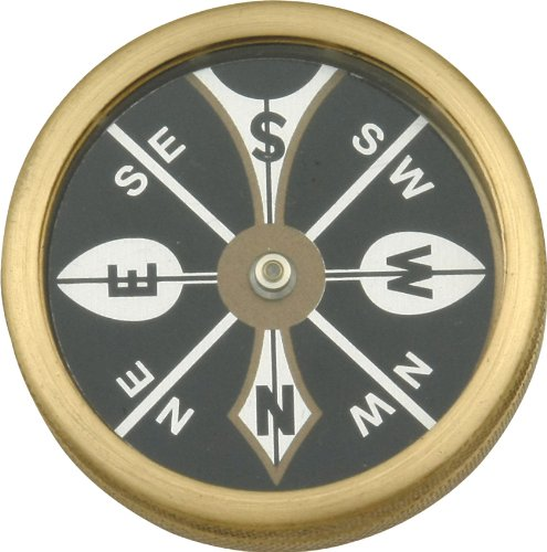 Marble Knives 223 Large Pocket Compass with Brass Body