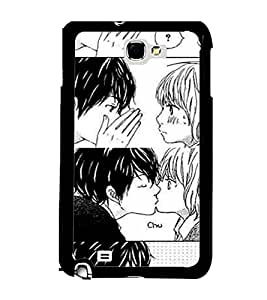 Printvisa 2D Printed Love Designer back case cover for Samsung Galaxy Note 1 - D4599
