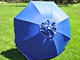 7FT. WATERPROOF 97% UVA PROTECTION BEACH UMBRELLA WITH CARRY CASE - SOLID BLUE