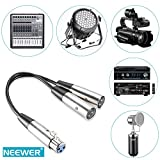 Neewer® 6zoll XLR-Buchse auf Dual-XLR Male Y-Kabel für XLR-Anschluss Mikrofone