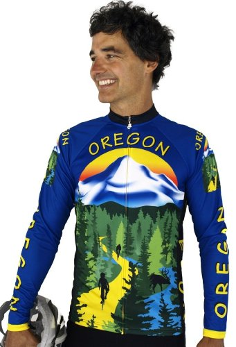 Buy Low Price Oregon Long Sleeve Cycling Jersey (B008VIL5AM)