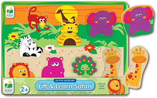 The Learning Journey My First Lift & Learn Safari Puzzle, Multi - 1