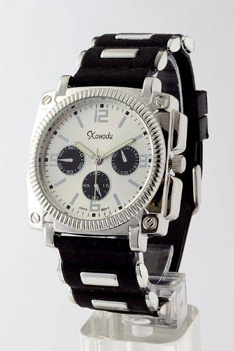 Karmas Canvas Metal Case Rubber Watch (White)