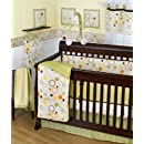 Sumersault Pop Dot 10 Piece Crib Set Tangreenorange