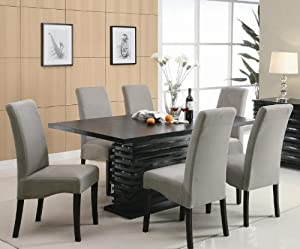 pc black and gray dining table set dining room furniture