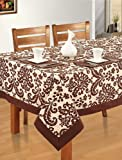 Swayam Libra Printed Cotton Eight Seater Table sheet - Choco (RDS18-60x108-9009)