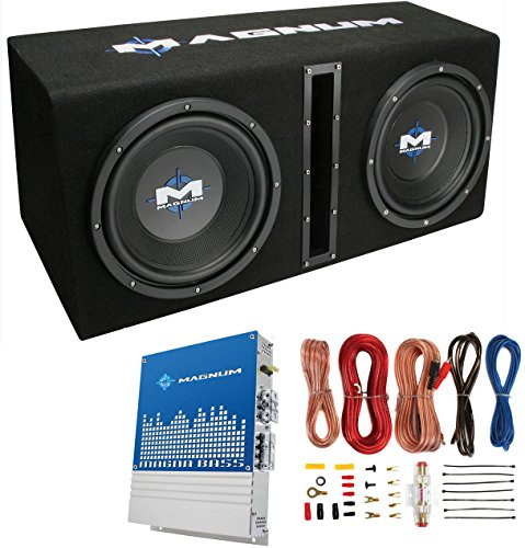 Mtx Magnum MB210SP 10-Inch 400W Rms Dual Loaded Subwoofer Woofer with Box with Amp Kit (Mtx Package compare prices)