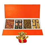 Chocholik Belgium Chocolates - Rich Treat Of Almonds, Raisin,truffles And Baklava Gift Box With Small Ganesha...