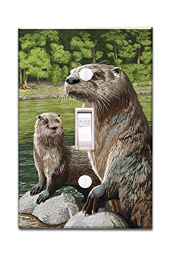 River Otter (Light Switchplate Cover)