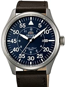 Orient 21-Jewel Automatic Aviator Flight Watch with Brown Leather Strap ER2A004D