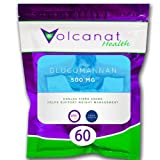 Volcanat Health - 60 Glucomannan capsule pills pack - HIGH STRENGTH - Weight Management Diet Supplement + Weightloss Advice*