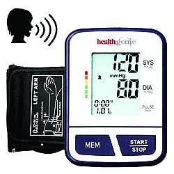 Healthgenie BP Monitor digital Upper arm BPM02T Talking Automatic with irregular heart beat indicator - 24 MONTHS WARRANTY