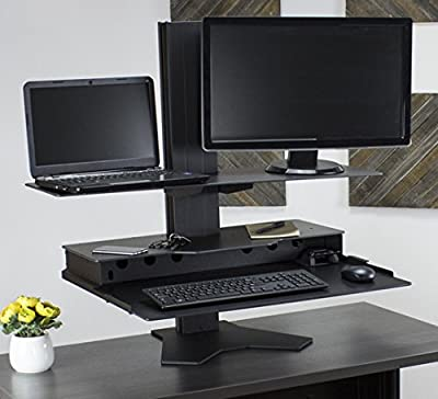 The Duke Platform Adjustable Desk Top for Monitors with Stands and/or Laptops - Made in USA