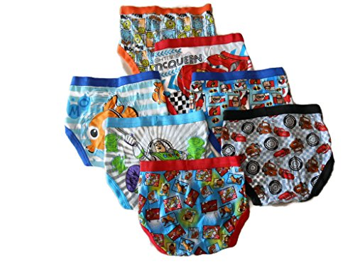 Disney Little Boys' Pixar 7-Pack Brief