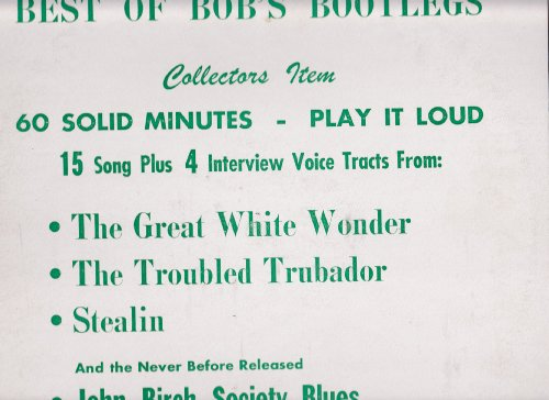 Bob Dylan - Great White Wonder - Zortam Music