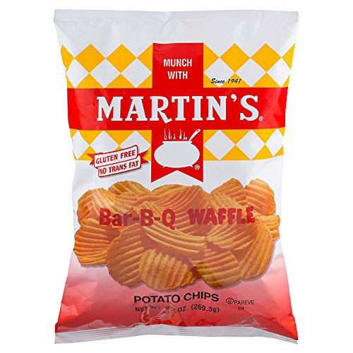 Martin's Bar-B-Q Waffle Potato Chips 9.5 Ounces (3 Bags) (Martins Bbq Chips compare prices)